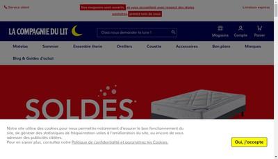 Site internet de Compagnie du Lit