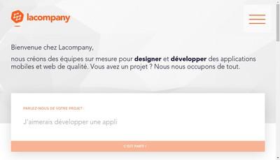 Site internet de Lacompany