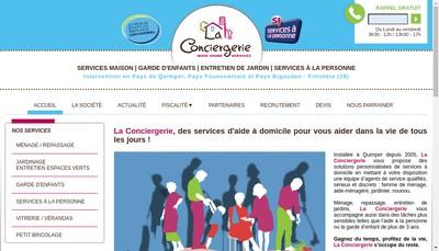 Site internet de La Conciergerie