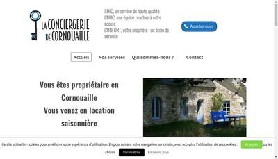 Site internet de La Conciergerie de Cornouaille