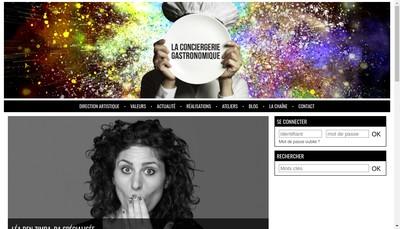 Site internet de La Conciergerie Gastronomique