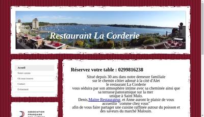 Site internet de SARL la Corderie