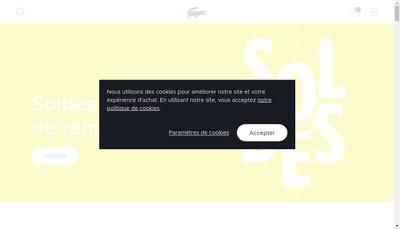 Site internet de Lacoste E-Commerce