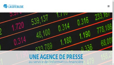 Site internet de La Cote Bleue