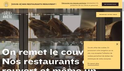 Site internet de La Cote et l'Arete