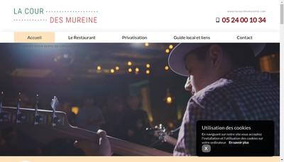 Site internet de La Cour des Mureine