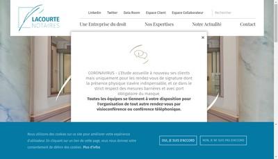 Site internet de Lacourte, les Professionnels du Droit