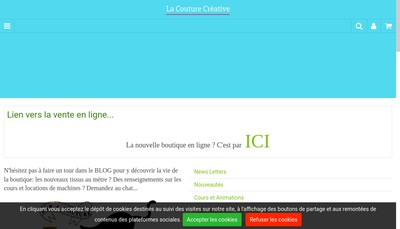 Site internet de La Couture Creative