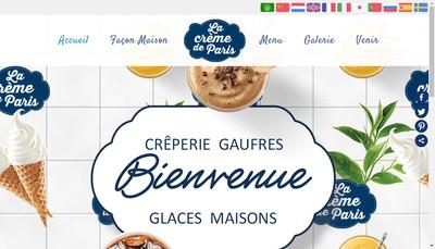 Site internet de La Creme de Paris