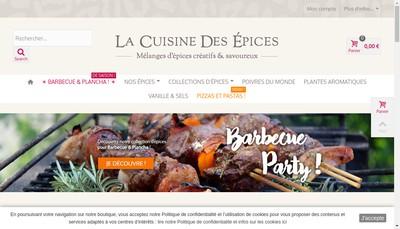 Site internet de La Cuisine des Epices
