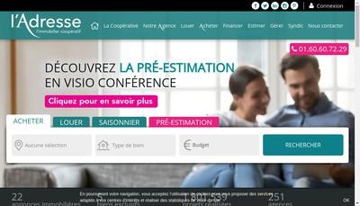 Site internet de Benoteau Immobilier