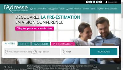 Site internet de L'Adresse