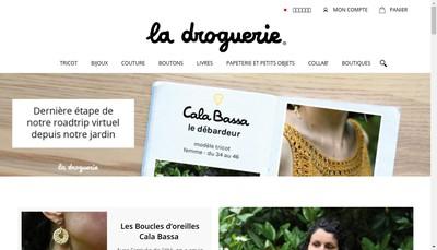 Site internet de La Droguerie