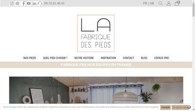 Site internet de La Fabrique des Pieds