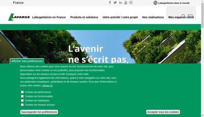 Site internet de Lafargeholcim Ciments