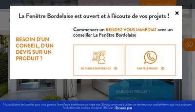 Site internet de La Fenetre Bordelaise