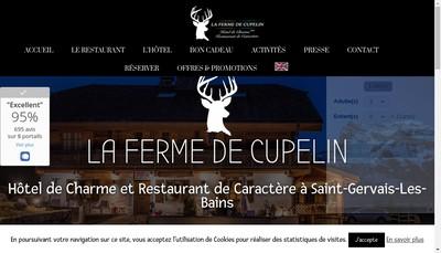 Site internet de La Ferme de Cupelin