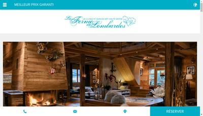 Site internet de La Ferme des Lombardes