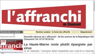 Site internet de L'Affranchi