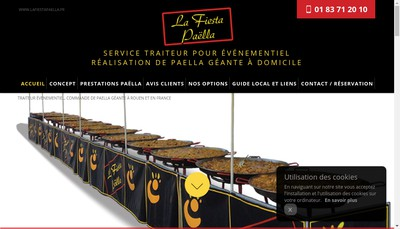 Site internet de La Fiesta Paella