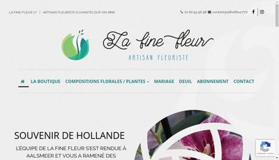Site internet de La Fine Fleur