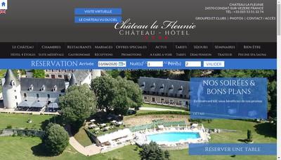 Site internet de Chateau la Fleunie