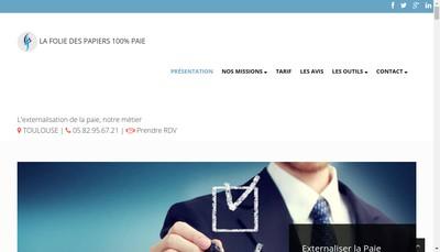 Site internet de La Folie des Papiers
