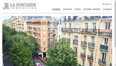 Site internet de La Fontaine Immobilier