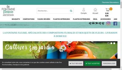 Site internet de La Fontaine Fleurie