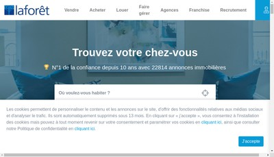 Site internet de Nation Immobilier