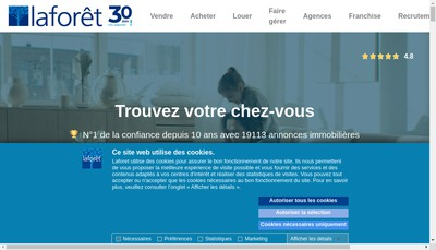 Site internet de Paris Ternes Immobilier