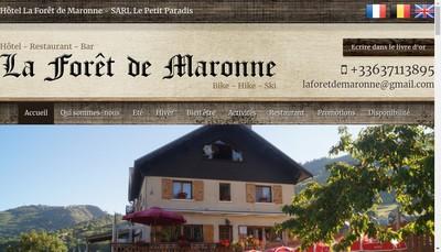 Site internet de La Foret de Maronne
