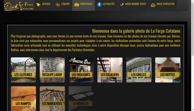 Site internet de La Forge Catalane