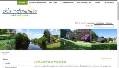 Site internet de Le Hameau de la Fouquiere