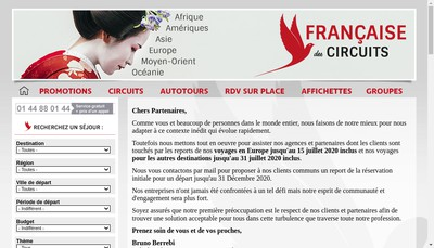Site internet de La Francaise des Circuits
