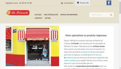 Site internet de La Friande