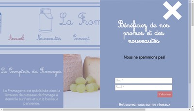 Site internet de La Fromagette