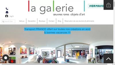 Site internet de SARL la Galerie