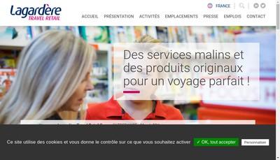 Site internet de Lagardere Travel Retail