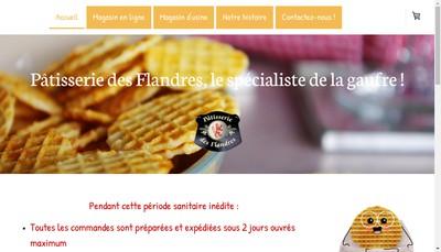 Site internet de Patisserie des Flandres