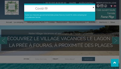 Site internet de Camping le Pre Vert