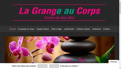 Site internet de La Grange au Corps