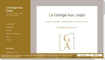 Site internet de La Grange aux Loups