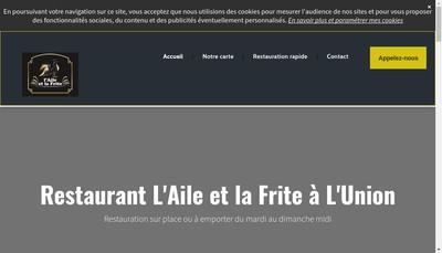 Site internet de L'Aile et la Frite