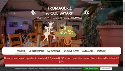 Site internet de Societe d'Exploitation de la Laiterie du Col Bayard