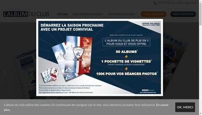 Site internet de L'Album du Club