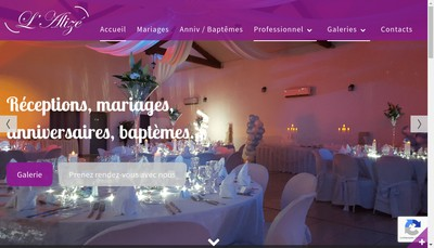 Site internet de L'Alize