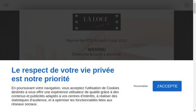 Site internet de La Loge Make Up