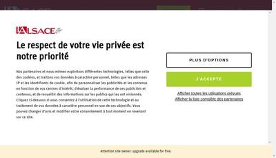 Site internet de L'Alsace