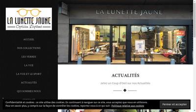Site internet de La Lunette Jaune